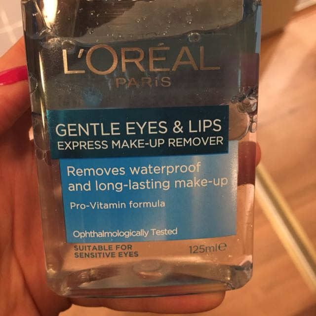 Loreal Gentle Eyes And Lips Make Up Remover 125ml