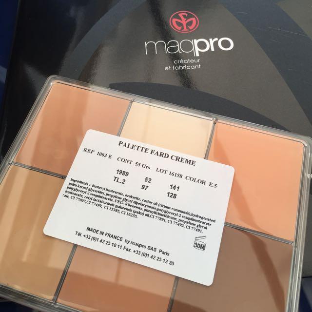 現貨Maqpro 六色底妝 e5 Asian 1巴黎總店代購
