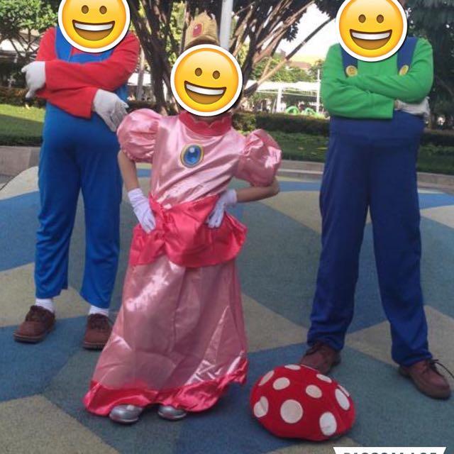 Halloween Mario Bros Princess Costume