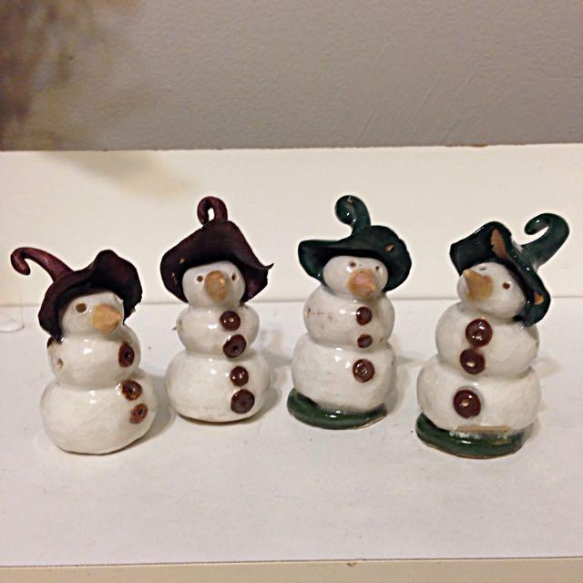Mini Handmade Ceramic Snowman