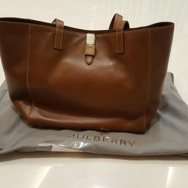 97779965fe4a 100% AUTHENTIC MULBERRY TESSIE TOTE SOFT SMALL GRAIN BAG HH2642 (BRAND  NEW)