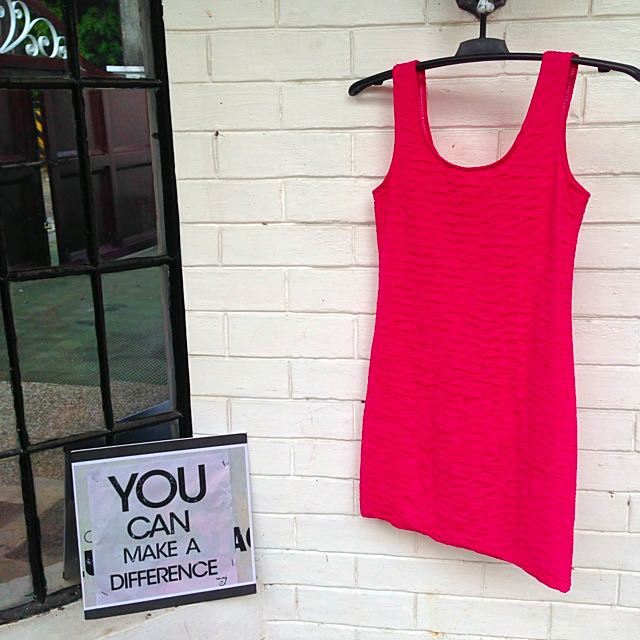 Pink Bodycon Dress S-M