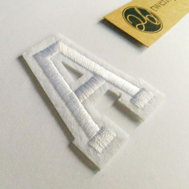 PO | Iron-On Patch : Alphabet Pure White