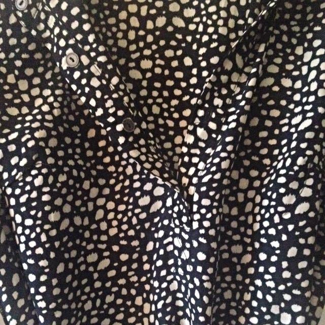 Polka Dot Wrap Dress - size M