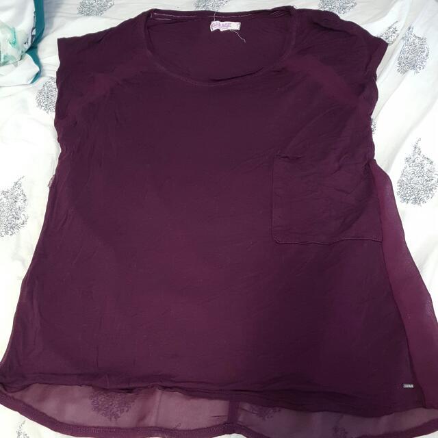 Purple Shirt From GARAGE