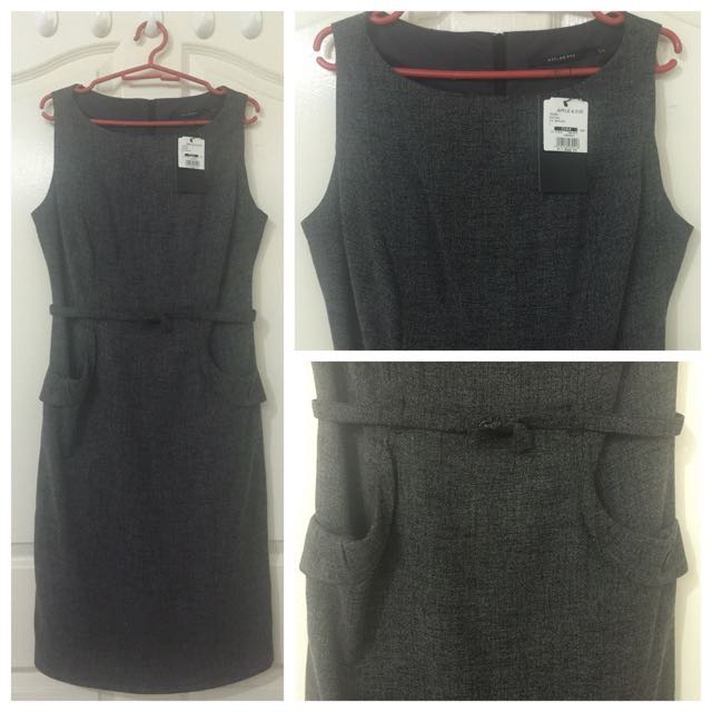 Sheath dark gray dress (Apple & Eve)