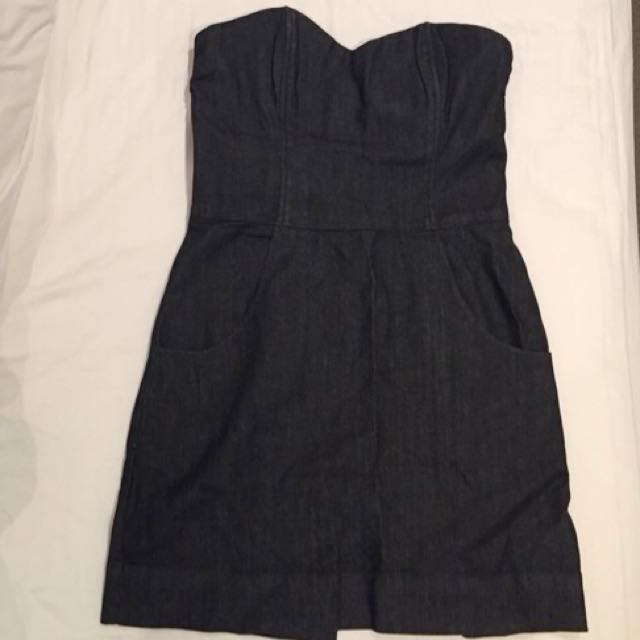 Strapless Denim Dress Size 36
