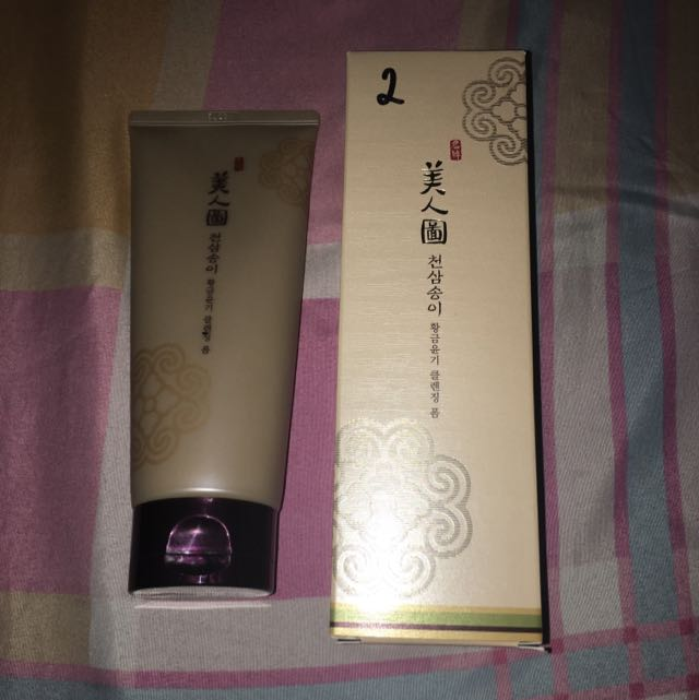 The Faceshop Myeonghan Miindo Heaven Grade Ginseng Glowing Cleansing Foam