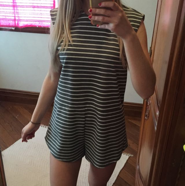 The Fifth striped playsuit