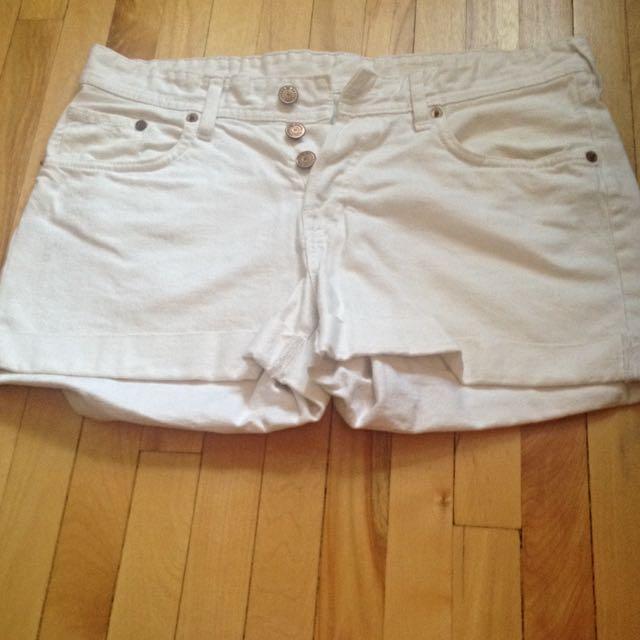 White Denim Shorts - size 6