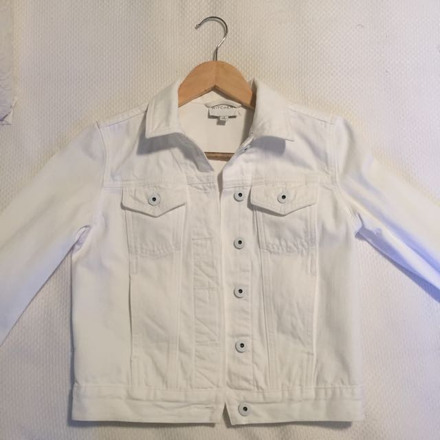 Witchery White Denim Crop Jacket