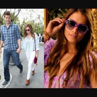 Ashley Tisdale Sunglasses Purple Heart Shapes