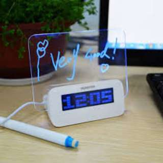 3in1 Alarm Clock With Bed Room Led Board And Usb Hub