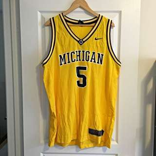 "Nike Michigan ""Fab Five"" Retro Basketball Jersey"