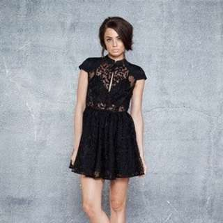 Cameo Black Lace Dress