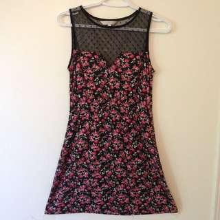 Lace Top Flier dress