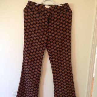 H&M Printed Flare Pants