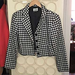 Black White Box Blazer
