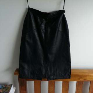 Vintage Leather High Waisted Skirt