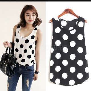 COTTON ON polkadots Sleeveless Top