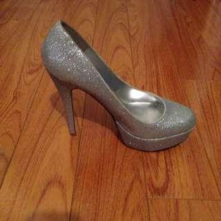 Aldo Silver Glitter Shoes