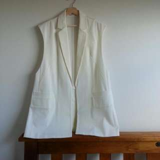 Copper St White Vest