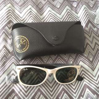 Authentic Ray Ban white sunnies