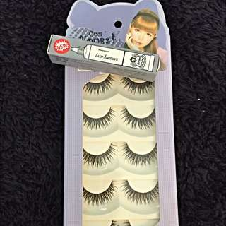 Brand New Fake Eyelashes W/ Glue