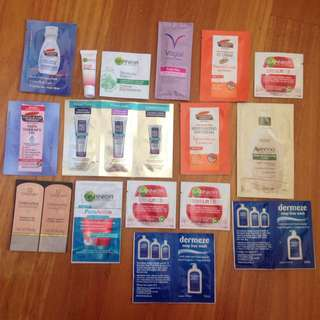 Samples Creams Foundation Moisturizer Scar Crime Cleanser