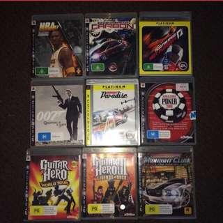 PS3 Games (Negotiable)