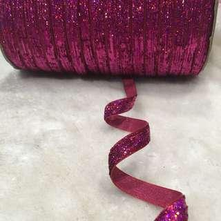10mm Glitter Ribbon Embellishment Trim Bows DIY