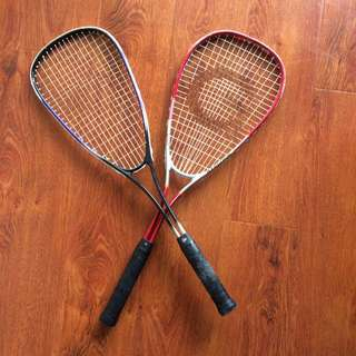 2x Squash Racquets