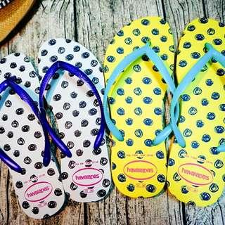 havaianas 哈瓦仕 俏皮點點圈圈 細帶 夾腳拖 兩色 夏日必備(黃色售出)