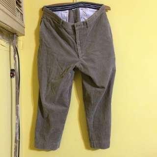 古著 灰色 燈芯絨長褲 寬褲