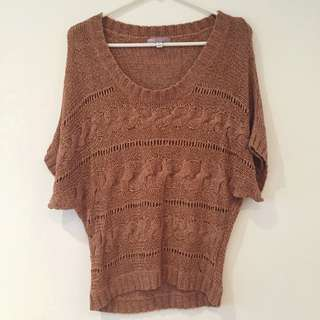 TEMT Knitted Top (burnt orange)