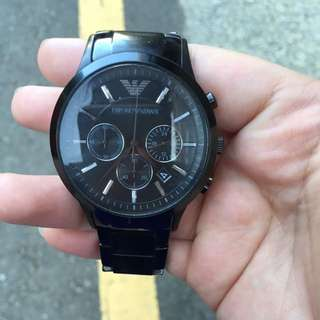 Armani2453 阿曼尼三眼陶瓷手錶