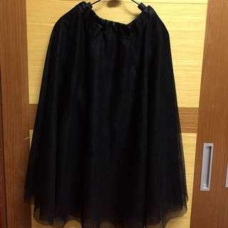 甜美 黑色 紗裙