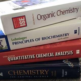 Universities chemistry texts