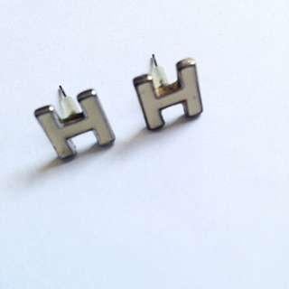 H Initials Earrings