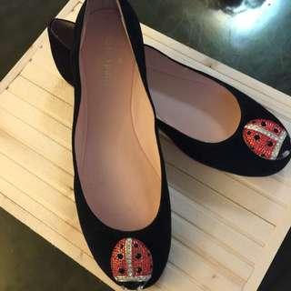 Kate Spade 瓢蟲絨布平底鞋