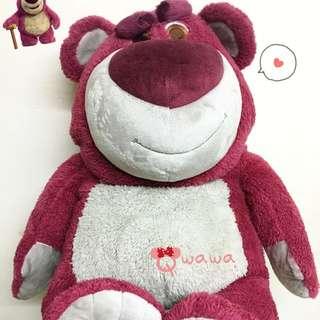 🇭🇰香港迪士尼樂園✨Toy玩具總動員3最可愛的大反派🍓熊抱哥草莓香味🍓70cm毛絨大娃娃/玩偶