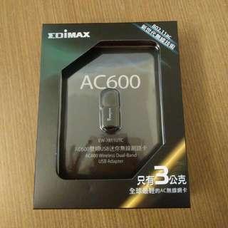 全新EDIMAX AC600迷你無線網卡,羅技無線滑鼠鍵盤組(含滑鼠)2個一起特價1000元(含運)