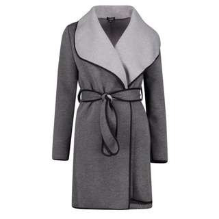 Grey Contrast Winter Coat Size 6 8 10