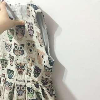 割愛💓貓頭鷹洋裝