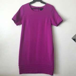 Magenta Cotton Dress