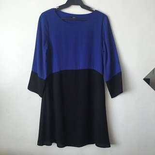 F&F Black & Blue Shift Dress