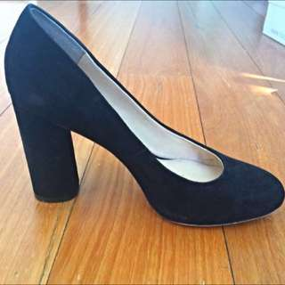 PRICE DROP Wittner Black Suede Heel