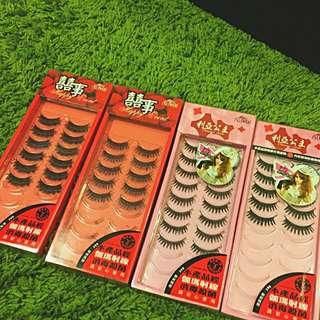 四盒超濃密假睫毛一起賣350