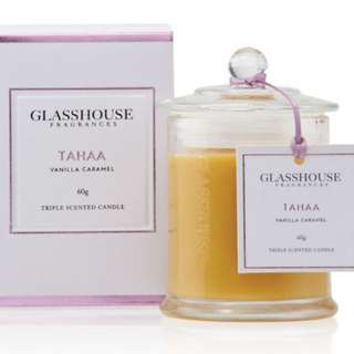 Full size brand new glasshouse tahaa candle