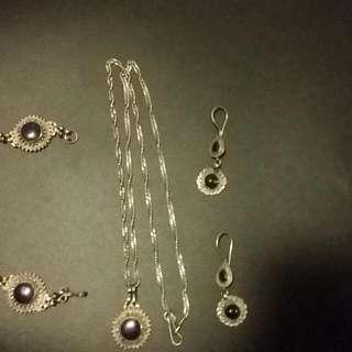 Jewelery Set Earrings Bracelet Necklace